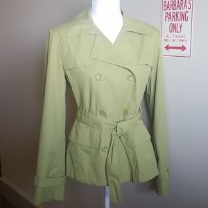 GIACCA SHORT GREEN PEACOAT W/TIE